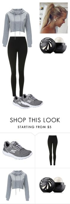 """""""SP"""" by e35sam ❤ liked on Polyvore featuring Skechers, Topshop and Eos"""