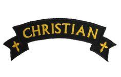 "BikerOrNot Store - Christian Rocker - Embroidered Patch - 1-1/2"" x 4"", $0.00 (http://store.bikerornot.com/christian-rocker-embroidered-patch-1-1-2-x-4/)"