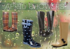April Showers bring... cute boots on the street! On the blog now!