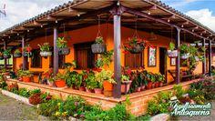 Village House Design, Duplex House Design, Kerala House Design, Village Houses, Small House Design, Indian Interior Design, Spanish Colonial Homes, Farmhouse Front Porches, Mexico House
