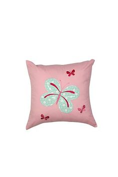 """This butterfly bed cushion is the perfect addition to the duvet cover set to complete the look. Measures 40x40cm.<div class=""""pdpDescContent""""><BR /><b class=""""pdpDesc"""">Dimensions:</b><BR />L40xH40 cm<BR /><BR /><b class=""""pdpDesc"""">Fabric Content:</b><BR />50% Polyester 50% Cotton<BR /><BR /><b class=""""pdpDesc"""">Wash Care:</b><BR>Cold machine wash no tumble drying as it will cause pilling</div>"""