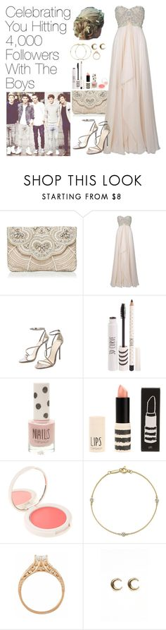 """4000 FOLLOWERS!!"" by onedirectionimagineoutfits99 ❤ liked on Polyvore featuring Forever New, Marchesa, B Brian Atwood, Topshop, Elsa Peretti and LowLuv"