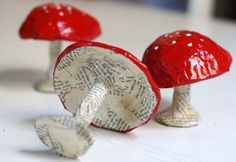 trio of toadstools (by grrl+dog)
