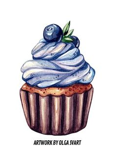 Welcome to a celebration of food in pop culture; from film and TV to mobile gaming and quirky, food related fan-art, let's dive in and taco-bout it. Realistic Drawings, Art Drawings Sketches, Food Illustrations, Illustration Art, Food Painting, Cupcake Painting, Watercolor Paintings For Beginners, Watercolor Food, Color Pencil Art