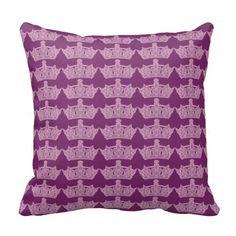 Pink Tiara Pillow via Zazzle