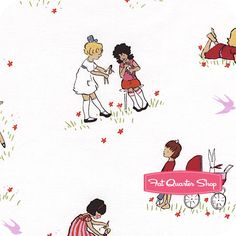 Children at Play Cotton Cream Dolls Yardage SKU# DC5100-CREM-D - Fat Quarter Shop