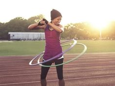 hula hoop! Great for the abs and total body!