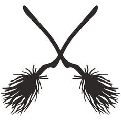 Silhouette Design Store: witch's broom logo