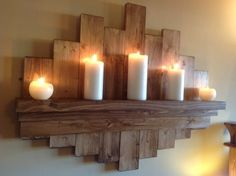 Pallet Candle Holder For WallPlain Pallet R250White Washed Rustic R300Dark Brown R300Contact Mel 0817221217 To Place Order.......