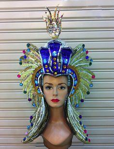 Da NeeNa H1232 Drag Pharoah Crystal Egypt Cleopatra Cabaret Showgirl Headdress #DaNeeNa