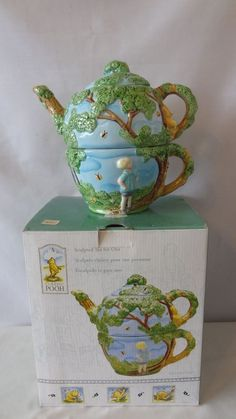 Treasure Craft Walt Disney Classic Winnie The Pooh Tea For One Set MIB #G677