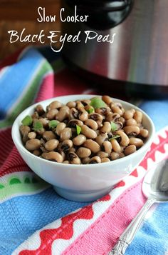 Black Eyed Peas from the slow cooker with a years worth of good luck!