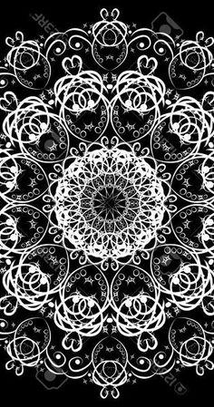 Beautiful mandala like kaleidoscopic image Children Images, Fractals, Mandala, Black And White, Patterns, Beautiful, Block Prints, Black N White, Black White