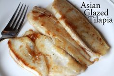 Asian Glazed Tilapia - need to try this for our non-fish family :)