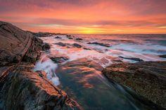Sunrise over Rye Beach, NH courtesy of Nightmute Photography #livefreenh