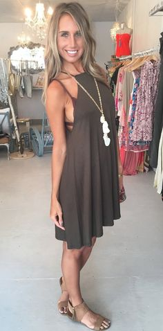 Olive Branch Tee Dress