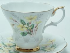 Royal Albert Friendship Series Prim Rose Yellow by TheVintageFind1