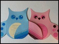 Handmade Invitation Owl Baby Shower or Birthday by malistah, $5.00 Handmade Invitations, Birthday Invitations, Invites, Invitation Ideas, Diy Paper, Paper Crafts, Pink Owl, Baby Owls, Diy Design