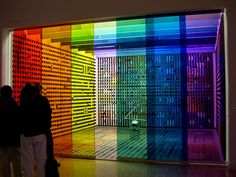 rainbow room artpiece at the centre pompidou in paris
