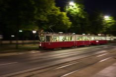 Take a tram at night to your favorite hot spot! Vienna Nightlife, Night Life, Take That, Stock Photos, Pictures, Image, Photos, Drawings