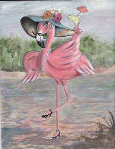 (F) is for~Flamingos Flamingo Painting, Flamingo Decor, Pink Flamingos, Tout Rose, Pink Bird, My Spirit Animal, Illustrations, Bird Art, Bird Feathers
