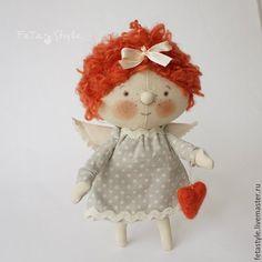 Купить Рыжий Ангел Кукла текстильная - ангел, ангелы, ангел в подарок, кукла ангел купить