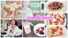 5 Quick & Healthy Breakfast Ideas for School!    Strawberry Yogurt Muffins:  2 1/2 cup Oats (old fashion not quick cooking) 1 cup Plain low fat greek yogurt 2 eggs 1/2 cup Stevia or sweetener of choice 1 1/2 tsp Baking powder 1/2 tsp Baking soda 1 1/2 Strawberries, diced + 1/2 cup for top of muffins