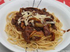 Spaguetti ai Fungui Porcini Secchi