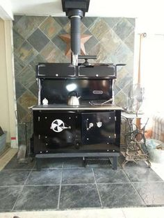 Hello Friends, My wife and I bought and installed a new Kitchen Queen 480 wood-fired cook-stove. Stove Oven, Kitchen Stove, New Kitchen, Wood Stove Cooking, Fire Cooking, Kitchen Queen, Layout, Water Heating, Best Kitchen Designs