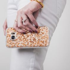 I LOVE MY CASE FOR MY PHONE Samsung Galaxy S7 Rose Gold Karat Case - lifestyle angle 1
