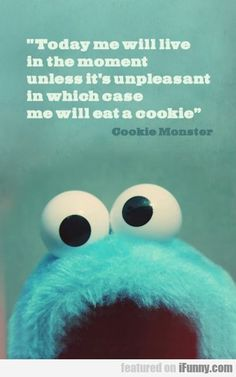 Cookie Monster... encouraging unhealthy relationships with food since forever lol