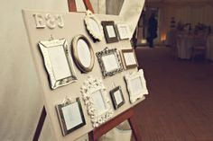 Vintage Table Plan #ideas #wedding