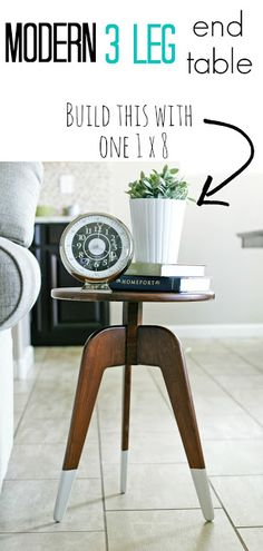 How to build a modern 3-leg table from one 1x8 board! #oneboardchallenge