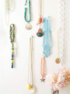 I love the idea of hanging my necklace/bracelet collection in the bathroom to add an artistic dimension.