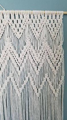 Zigzags Macrame Curtain Room divider Wedding by StudioSenbel