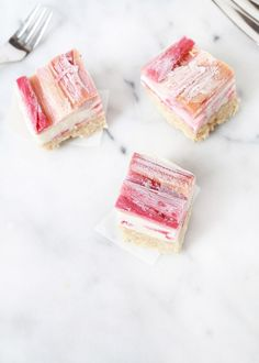 Strawberry Rhubarb Ice Cream Bars | Posh Little Designs #dairyfree #summer #desserts