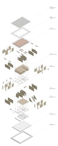 Gallery - 59 Experimental Homes Address Hyper-Urbanization in Africa - 59 Section Drawing Architecture, Architecture Concept Diagram, Architecture Building Design, Concrete Architecture, Facade Design, Architecture Details, Diagram Design, Architectural Section, Detailed Drawings