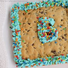 Chocolate Chip Cookie Cake- doubled it and put it on a pizza pan.  It was soft and yummy.  Thicker than a regular cookie, perfect with a scoop of ice cream