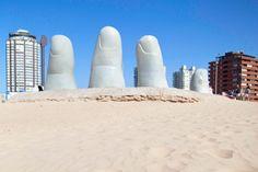"""Mano de Punta del Este"" or, ""The Hand"" - a famous sculpture on the beach."