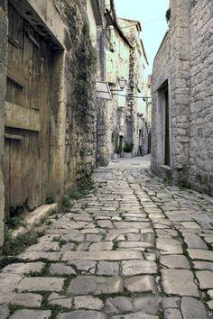 Old Trogir street, Trogir, Croatia