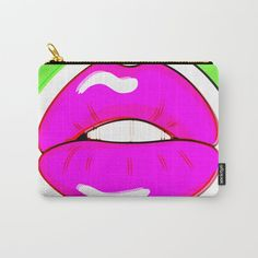 Buy Kiss Me #buyart #popart #kissme #society6 Carry-All Pouch by beebeedeigner. Worldwide shipping available at Society6.com. Just one of millions of high quality products available.