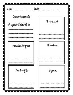 Quadrilaterals Picture Definitions