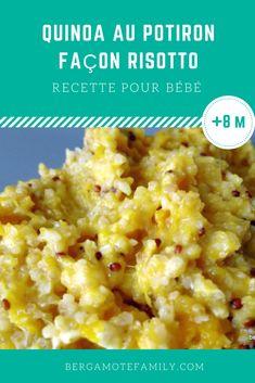 Recette de quinoa au potiron à réaliser pour bébé dès 8 mois, et pourquoi pas toute la famille ! Fondant et délicieusement parfumé, bébé va adorer.