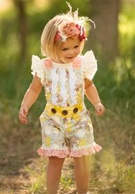 Persnickety Clothing - Minnie Romper Fox Print