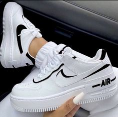 Uploaded by ℱℛᎯℕℂℰЅℂᎯ. Find images and videos about white, shoes and nike on We Heart It - the app to get lost in what you love. sneakers nike air force Image about white in Shoes by Queen.G on We Heart It Moda Sneakers, Cute Sneakers, Sneakers Mode, Casual Sneakers, Casual Shoes, Ladies Sneakers, Sneakers Style, Summer Sneakers, Trendy Shoes