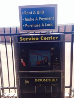 Kiosk at your service to Rent, and make a Payment 24 hours a day 7 days a week. Storage Facility, Self Storage, Kiosk, Rv, Boat, The Unit, How To Make, Motorhome, Dinghy