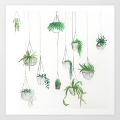 Urban+Greenery:+Part+1+Art+Print+by+Hannah+Bottino+-+$15.00