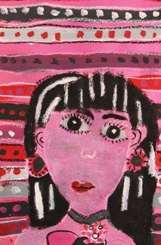 Picasso painting rose period self portrait oil pastel tempera paint art lesson 3rd grade
