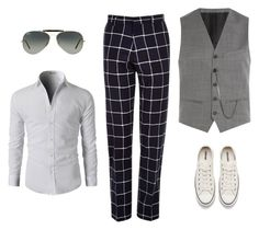 A menswear look from February 2017 featuring mens long sleeve shirts, mens tuxedo pants and mens grey vest. Browse and shop related looks. Grey Vest Mens, Tuxedo Pants, Tuxedo For Men, Long Sleeve Shirts, Men's Fashion, Converse, Menswear, Cool Stuff, Polyvore