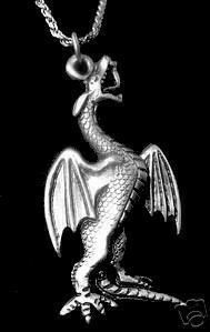Fire Breathing Dragon Real Sterling Silver Charm Celtic Sterling Silver 925 Jewelry